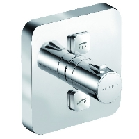 [KLUDI] PUSH MITIGEUR THERMOSTATIQUE A ENCASTRER 2 SORTIES 150X150MM